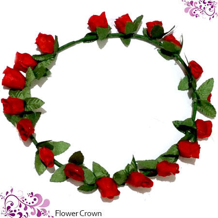 BANDO FLOWER CROWN MERAH