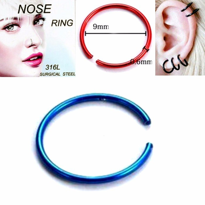 ANTING HIDUNG JEPIT ( nose ring ) BLUE