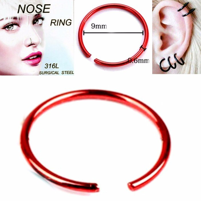 ANTING HIDUNG JEPIT ( nose ring ) RED