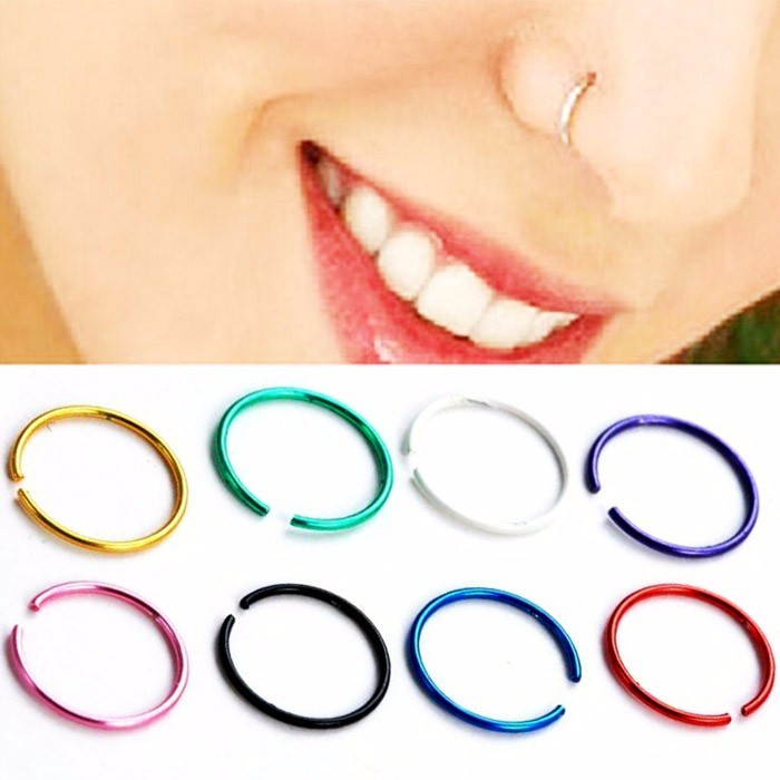 ANTING HIDUNG JEPIT ( nose ring ) WHITE