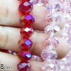 BEADS KRISTAL 8 isi 24 - RED