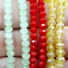 BEADS KRISTAL 4 isi 24 - RED MILKY