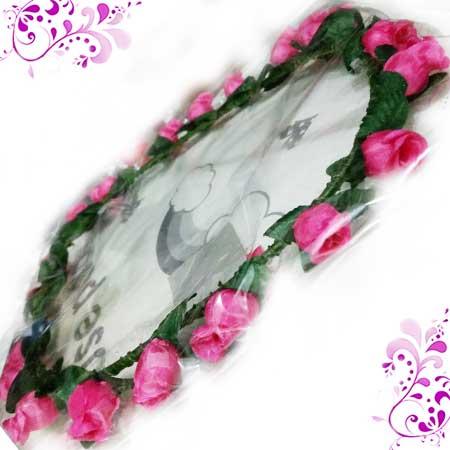 AKSESORIS RAMBUT » BANDO   BANDANA » BANDO FLOWER CROWN isi 6 ... a5e6788a767