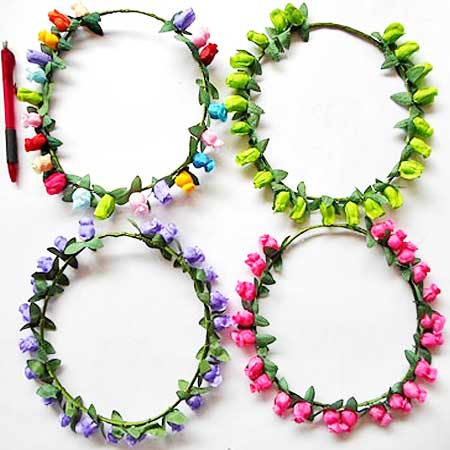 BANDO FLOWER CROWN PINK MUDA