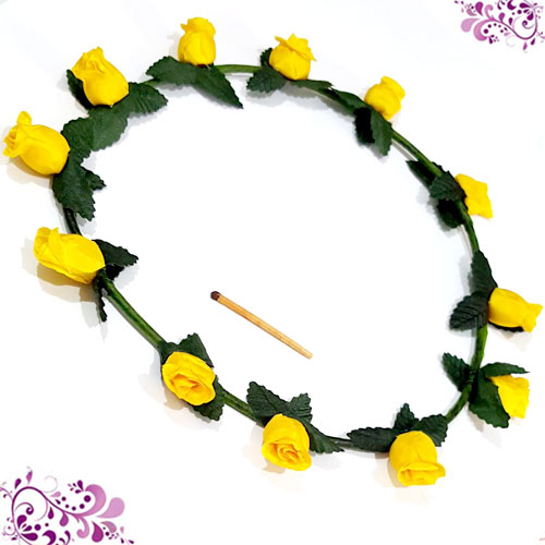 BANDO FLOWER CROWN YELLOW