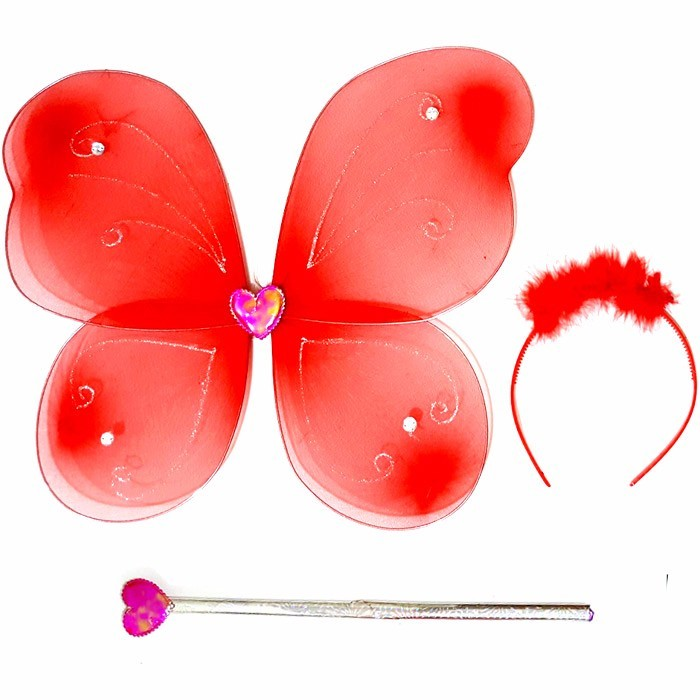 BUTTERFLY LOVE WINGS - SAYAP LOVE KUPU - RED