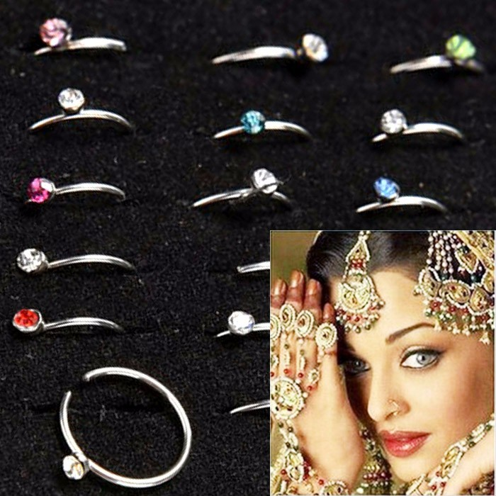 ANTING HIDUNG JEPIT INDIA ( nose ring ) PINK
