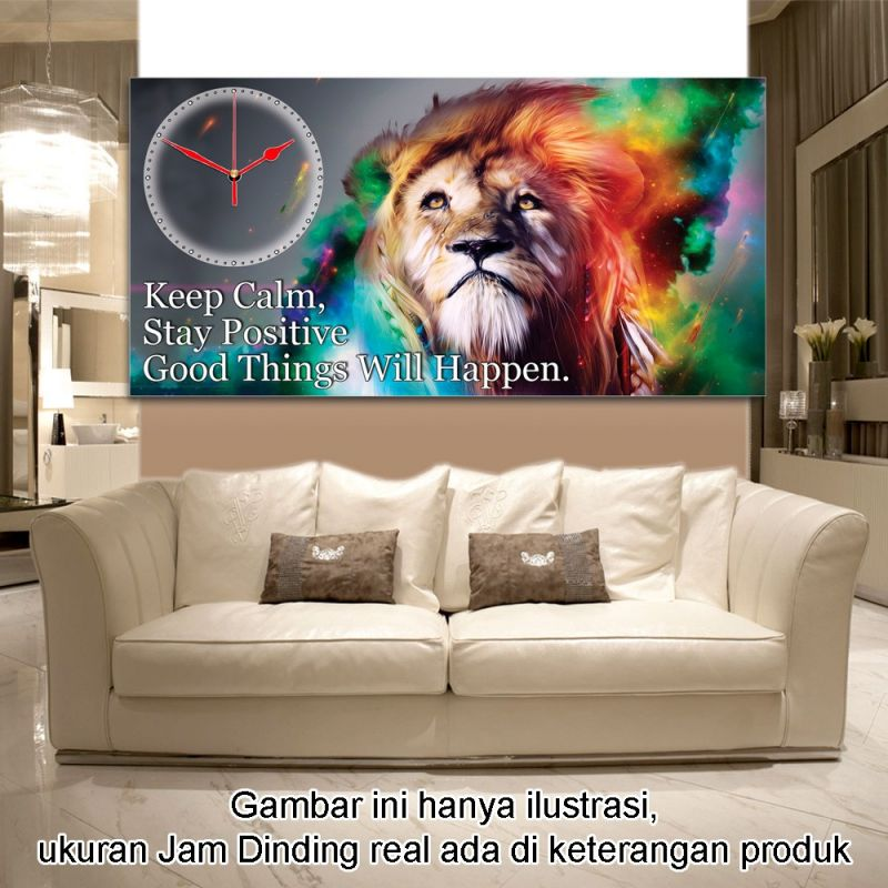 JAM DINDING QUOTE KEEP CALM 40x80cm
